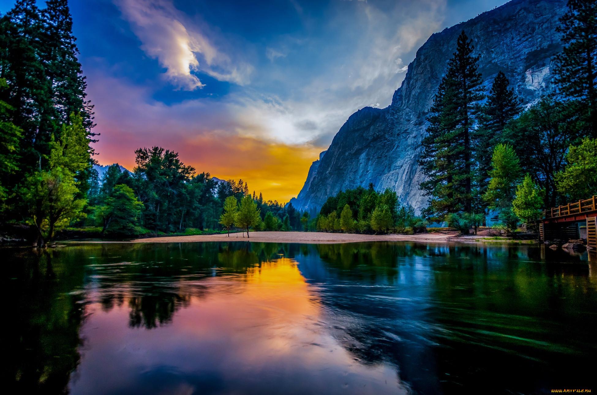 природа, пейзажи, пейзаж, горы, озеро, сша, йосемити, заповедник, национальный, парк, йосемитский, йосемитская, долина, yosemte, valley